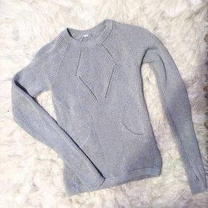 Lululemon Gray Chunky Long Sleeve Sweater